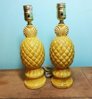 Pineapple lamps