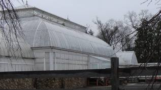 West-facing facade