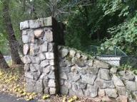 Coach Barn Gate pillar, restorative mortar evident