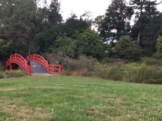 Meditation garden bridge